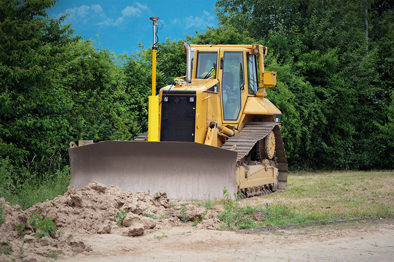 CAT dozer with 3D GPS control