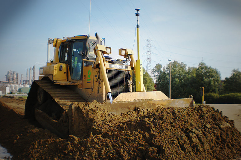 CAT dozer with 3D grade control solution