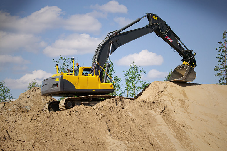 VOLVO excavator with MOBA Xsite PRO advanced system