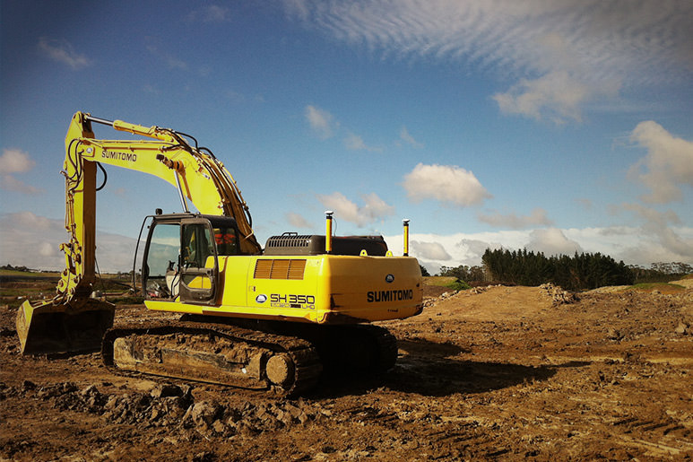 Sumitomo excavator works optimal with MOBA dual GPS in Australia