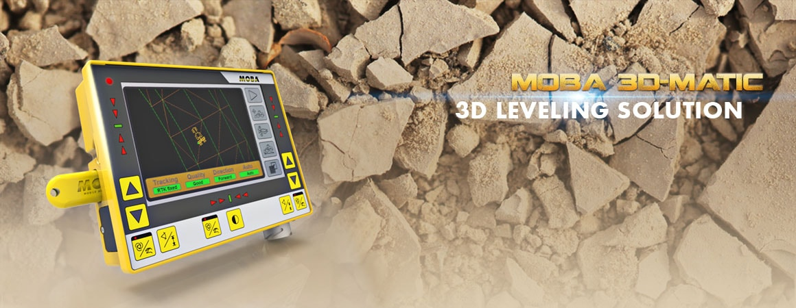[Translate to Dansk:] MOBA 3D matic Bulldozer leveling system
