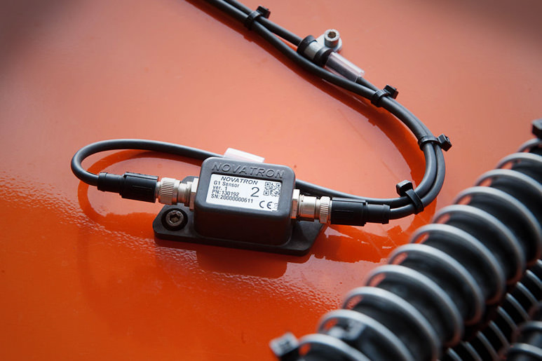 slope sensor for exact tilt measurement at excavators