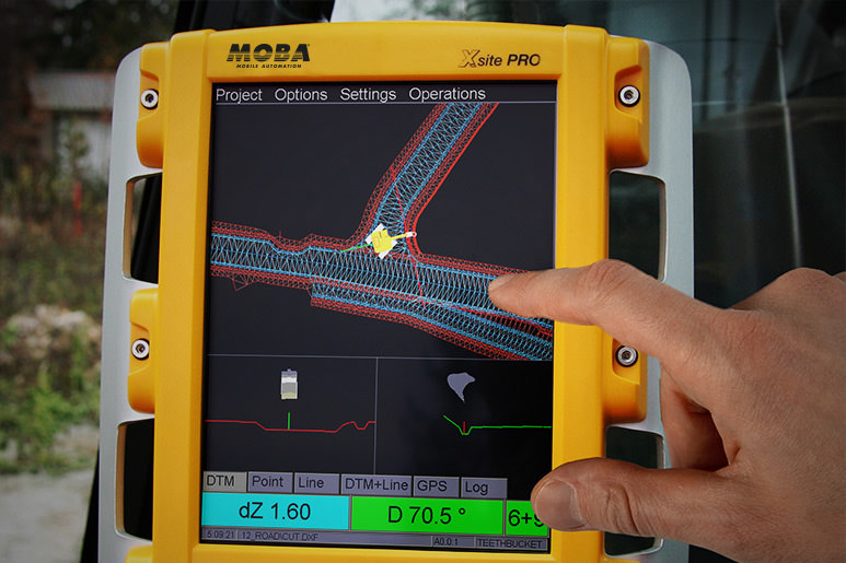 MOBA Xsite PRO operating panel for better dredging works