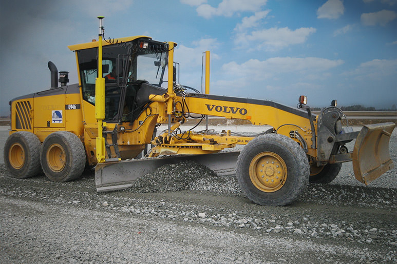 VOLVO motor grader works optimal with MOBA 3D GNSS in Russia