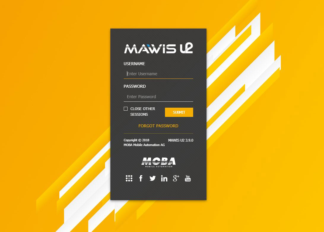 New Login Page MAWIS U2